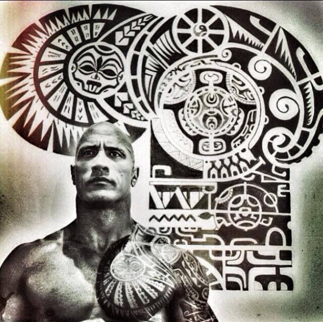 The Rock S Tattoos Beautiful Find Your Warrior Mana Tatouage Marquisien Tatouage Polynesien Dwayne Johnson The Rock
