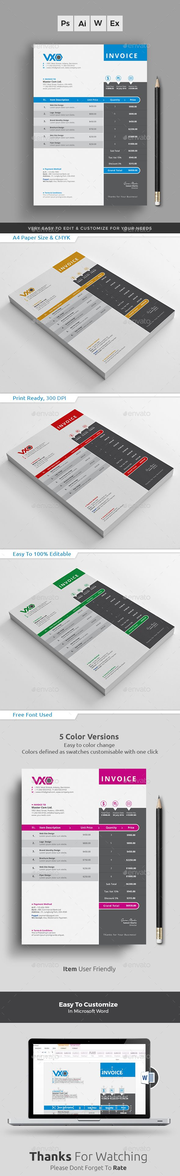 Invoice Excel   Template  Business proposal and Font logo Invoice Excel by themedevisers Clean Invoice Excel Template  Use this  Invoice for personal  corporate