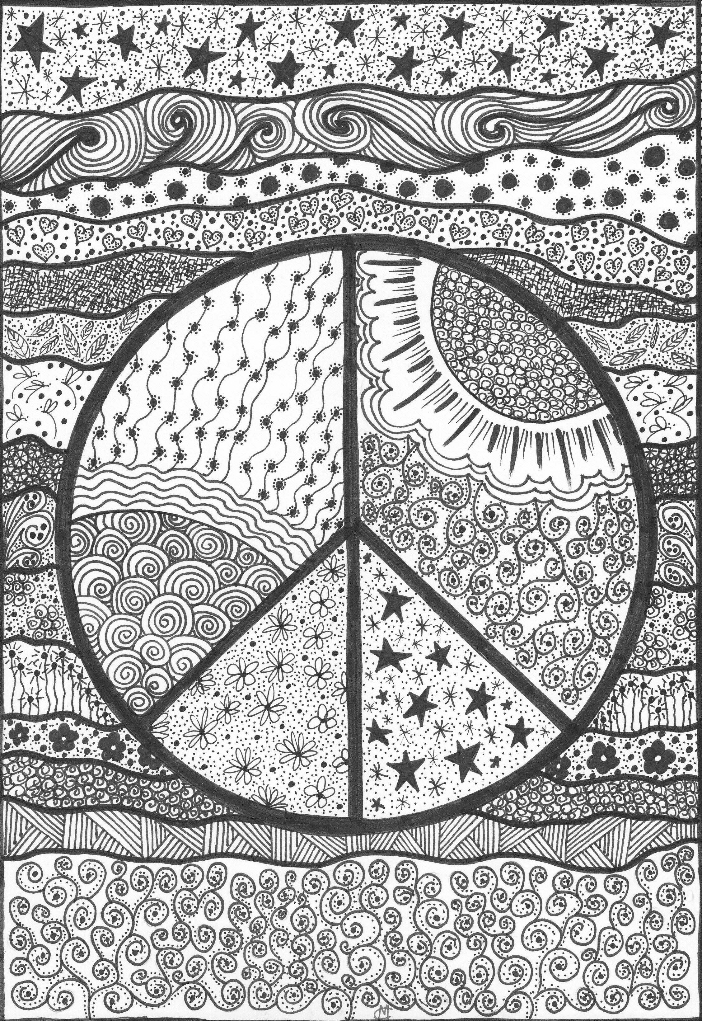 coloring pages psychodelic - photo#37