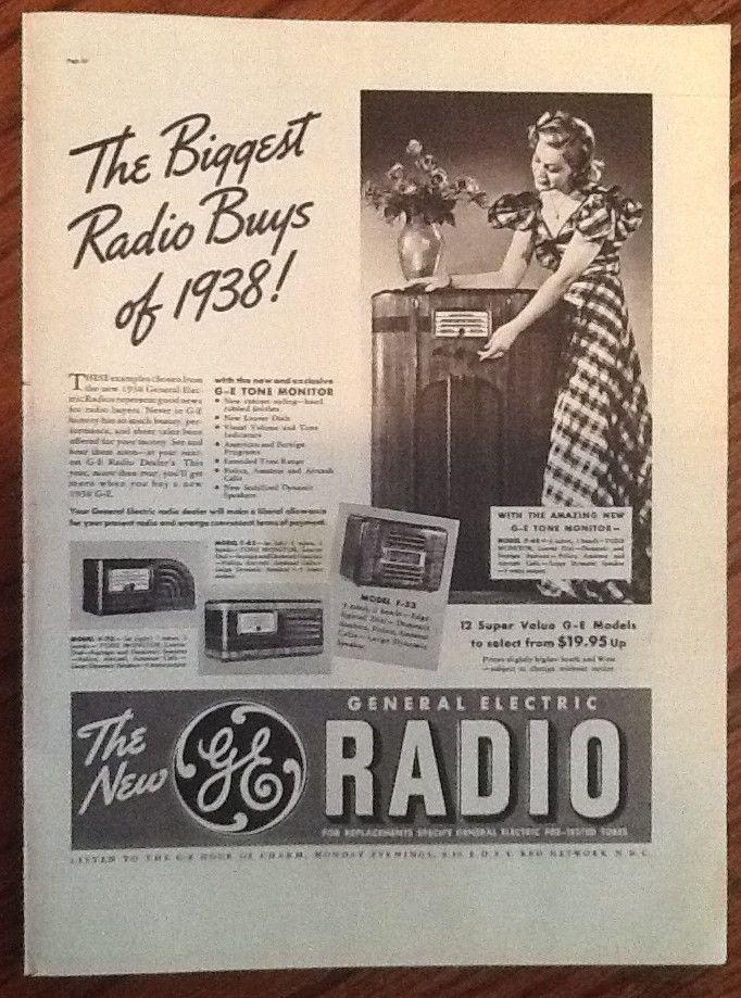 1946 GE Radio Phonograph Ad - Wall Art - Decor