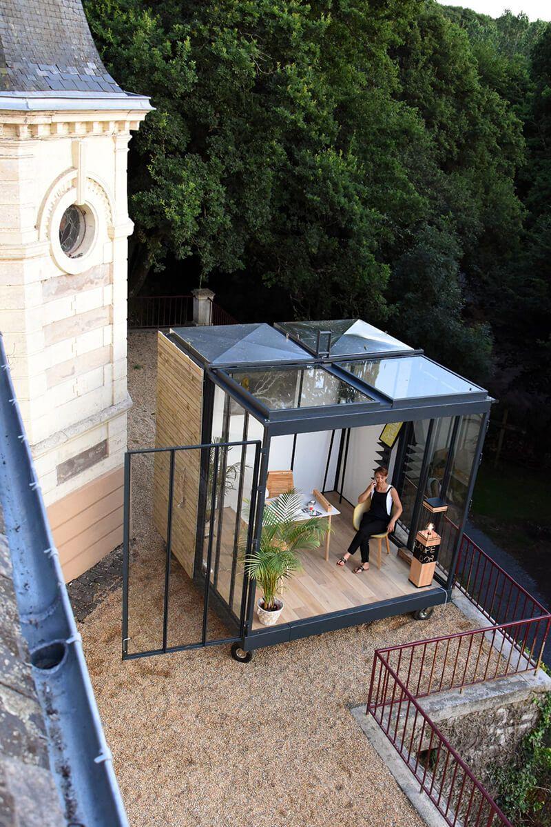 une extension contemporaine un cube dans mon jardin extensions architecture and verandas. Black Bedroom Furniture Sets. Home Design Ideas