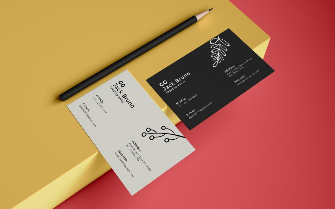 Elegant Business Card MockUp Template (With images