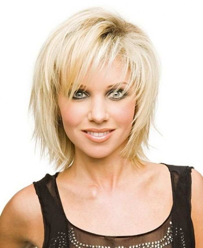 Best Short Hairstyle For Women Over 40 Sexy Layered Razor Cut In Particular Thick
