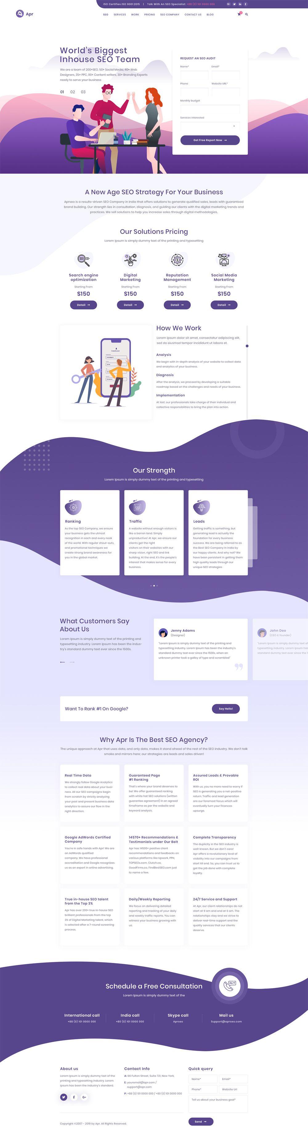 Apr Tech Digital Product Landing Page Psd Website Template Web Design Tips Web Layout Design Web Design Websites