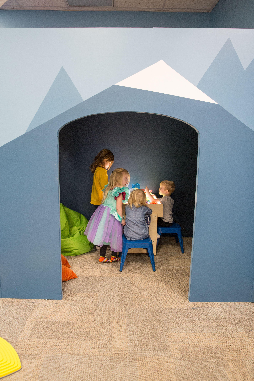 Kids play room dark room playroom design kids playroom