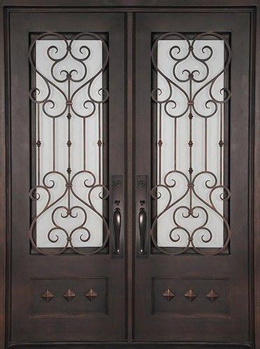 74 Quot X 97 Quot Victorian Prehung Iron Double Door Unit