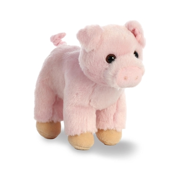 Chops The Small Stuffed Pig With Sound By Aurora Plush Animals