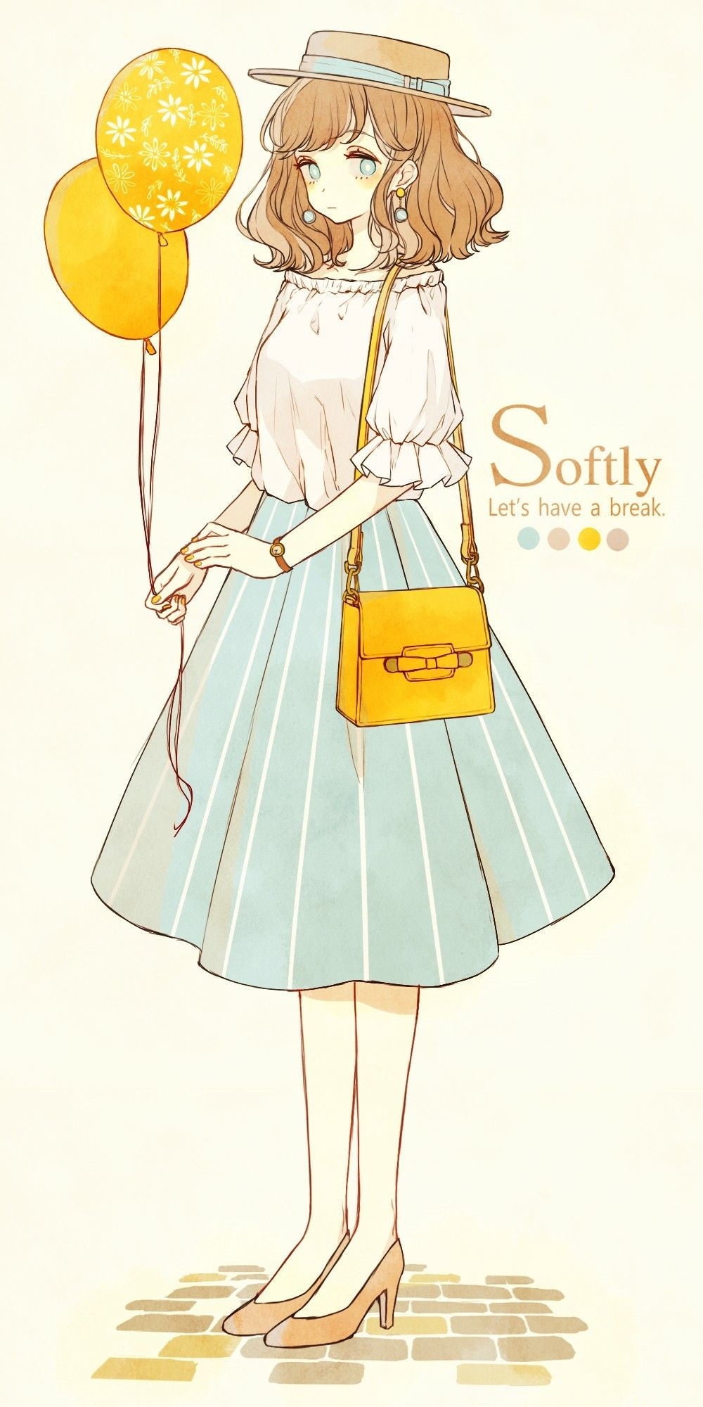 Pin By Courtney On Arts Mostly キレイ イラスト 可愛い女の子