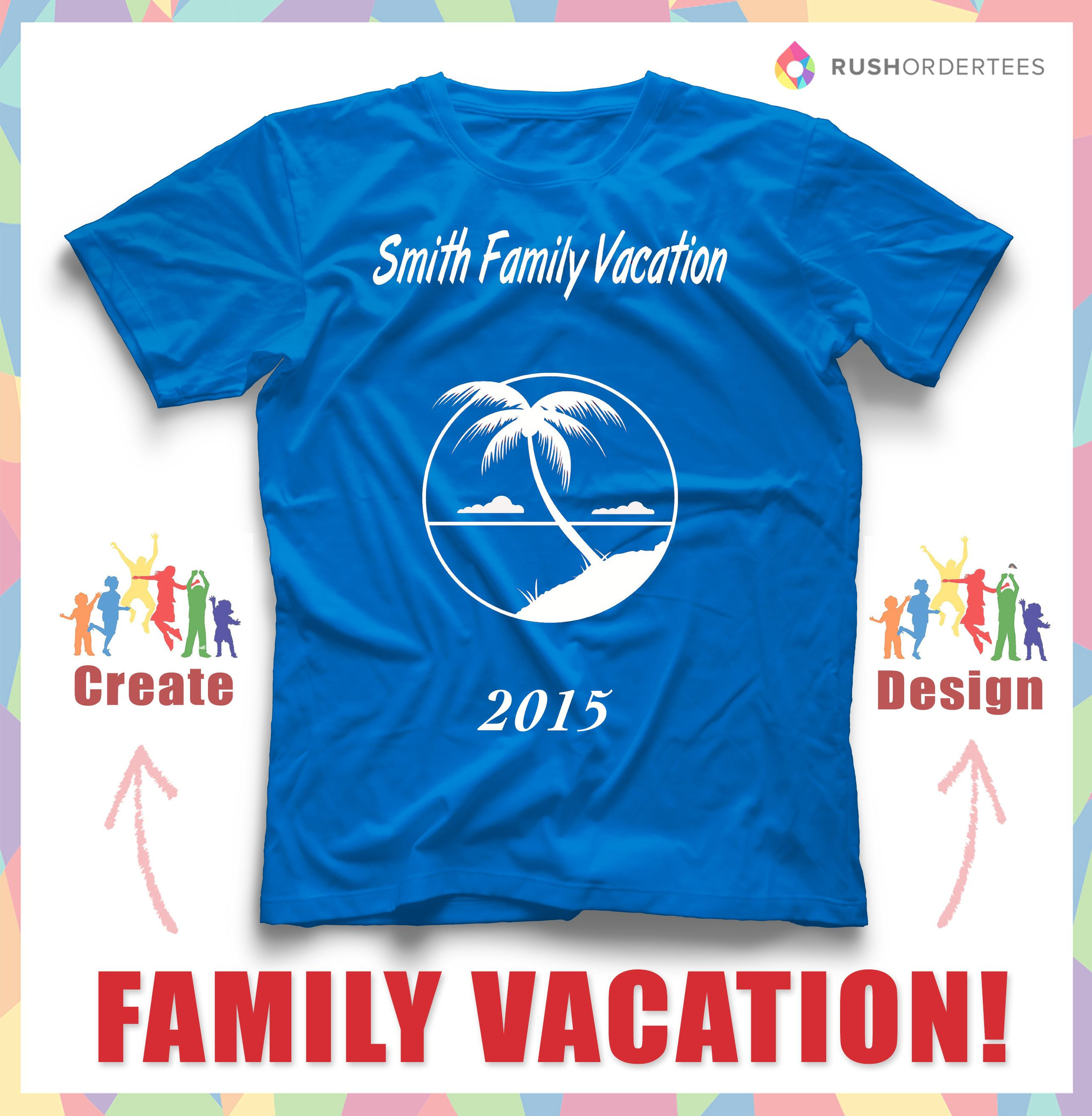 family cruise vacation custom t shirt design idea create a family vacation shirt design
