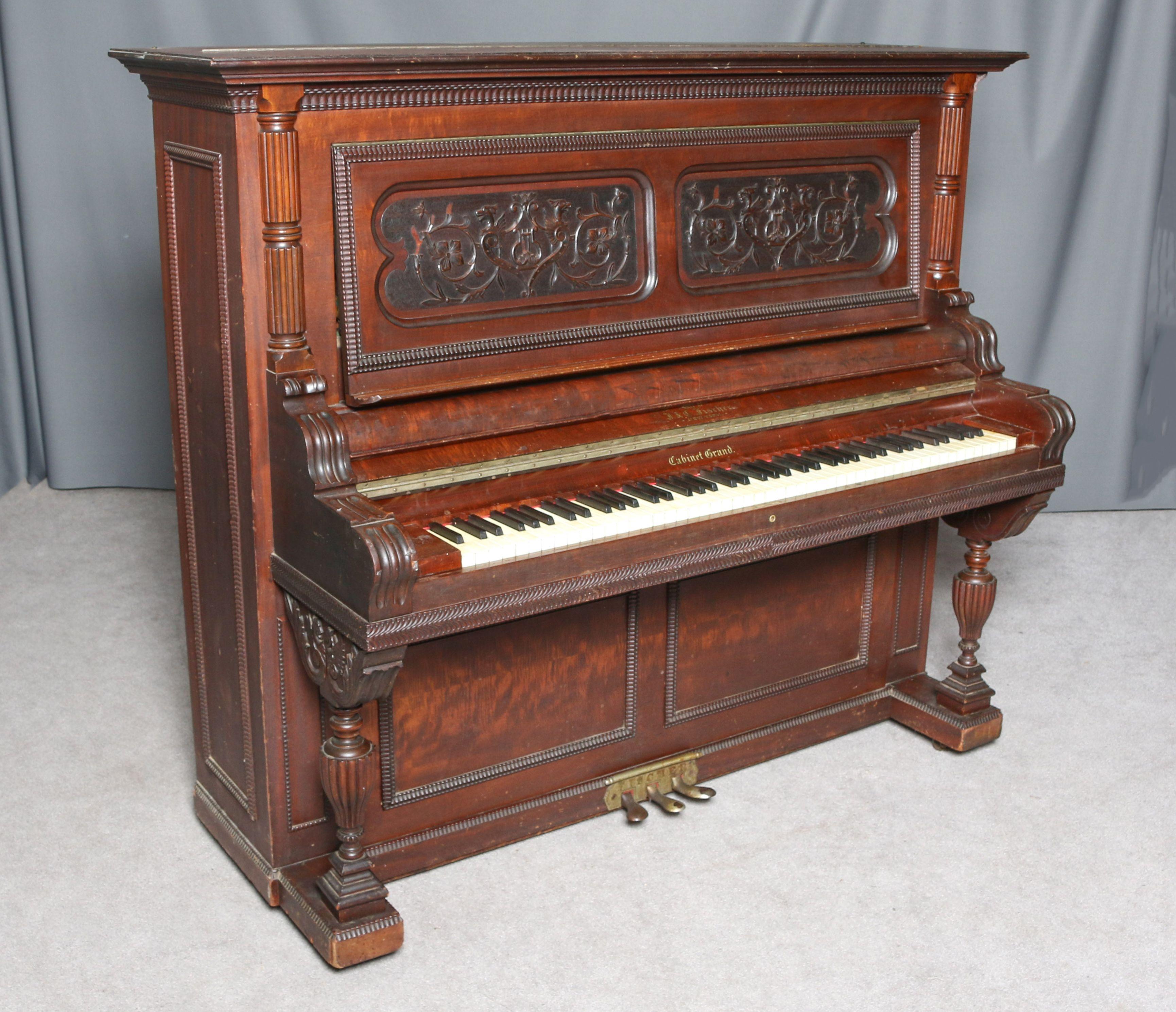 Fischer Victorian Upright Piano Piano Shop Upright Piano Piano