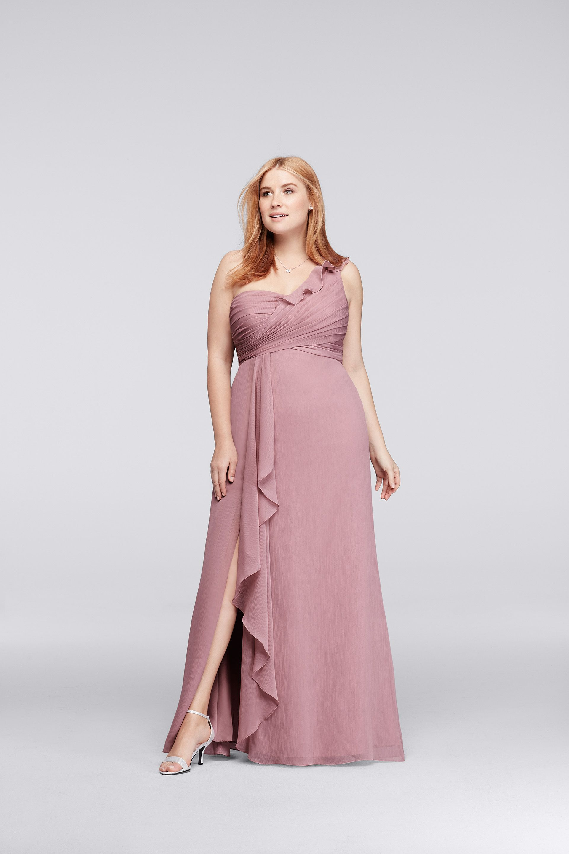 A rose quartz bridesmaid dress is exactly the look we are going for ...