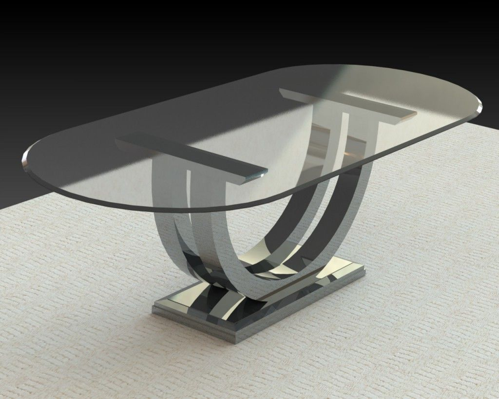 Metro Chrome Base With Glass Top Glass Top Dining Table Oval Glass Dining Table Glass Dining Table [ 819 x 1024 Pixel ]