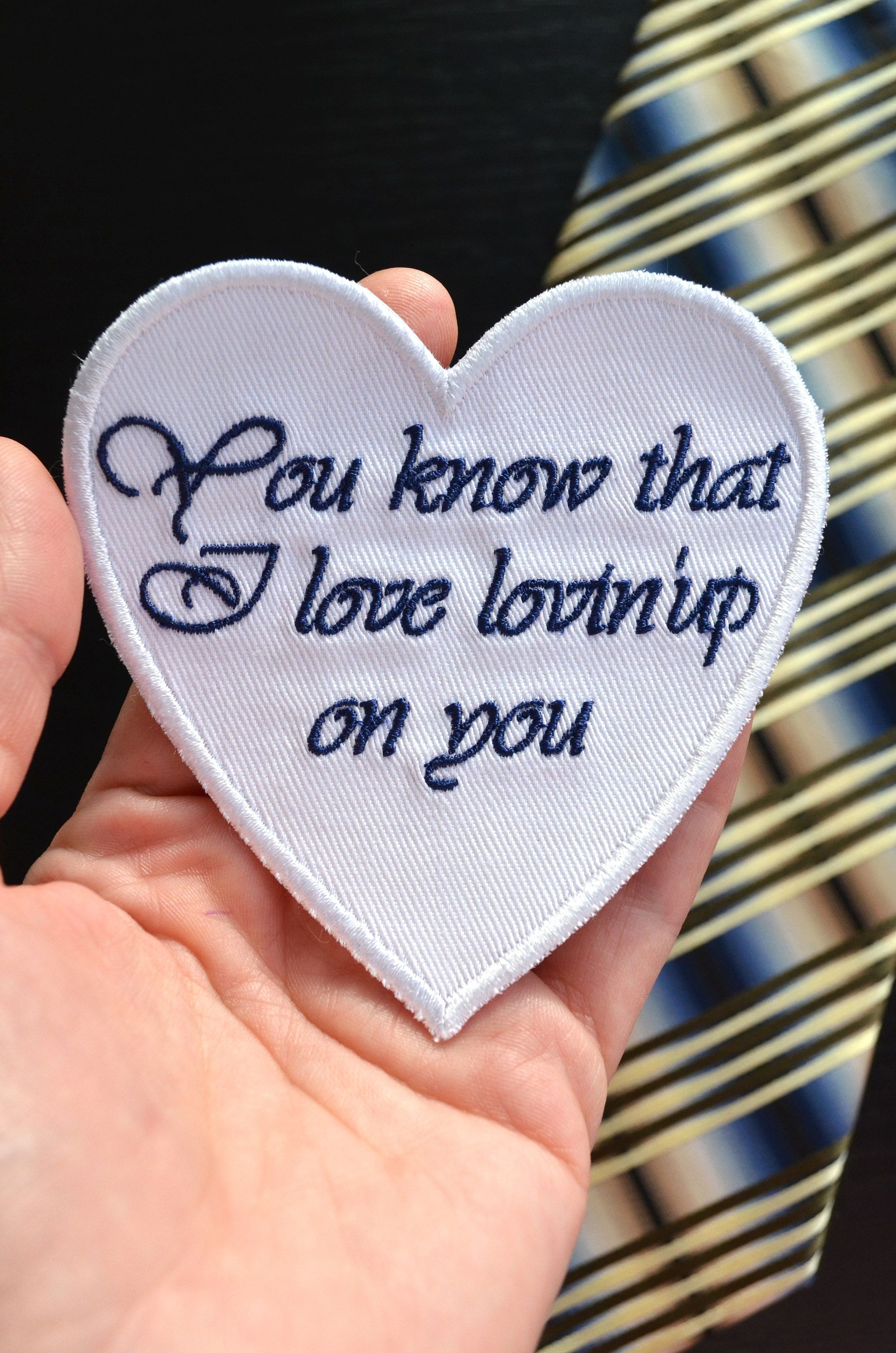 Fiance gift for him groom tie patch wedding tie patch