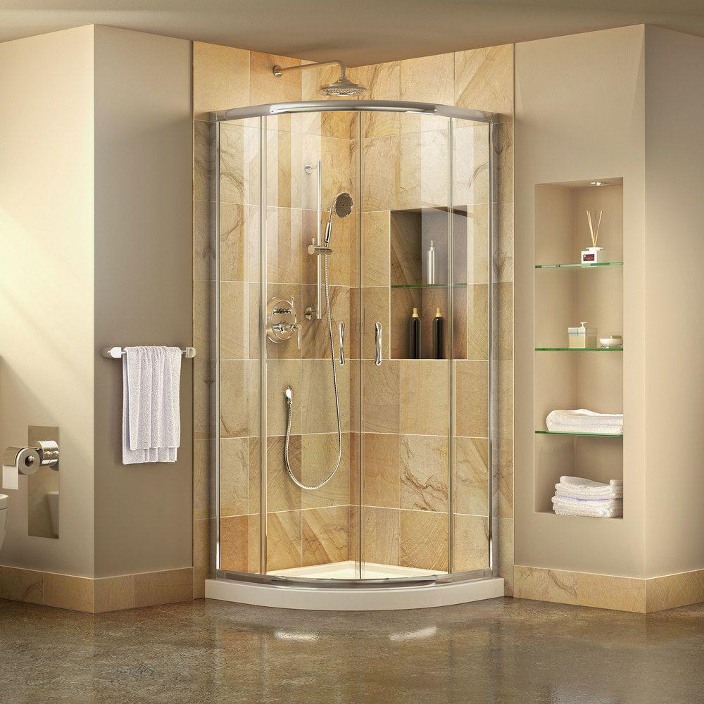Dreamline prime frameless sliding shower enclosure and slimline