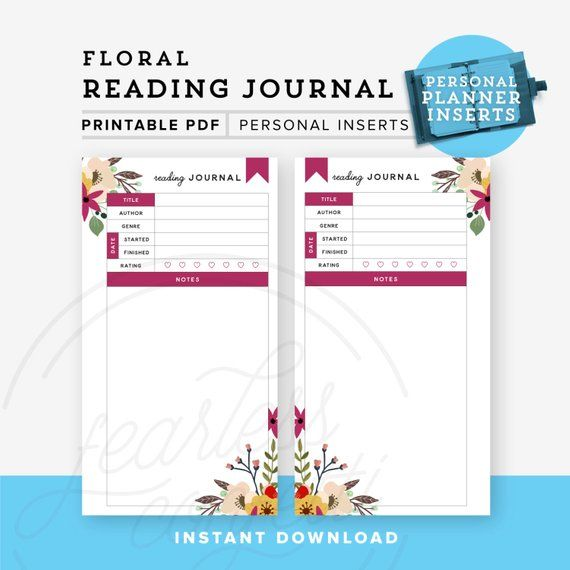 graphic relating to Reading Journal Printable known as Looking at Magazine Printable, Unique Planner Printable