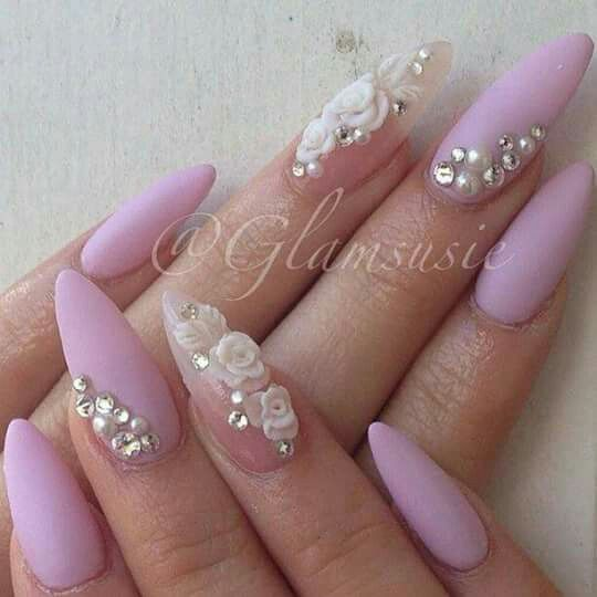 Pin by Lessi Chaslynn on nails | Pinterest | Nail inspo, 3d flower ...