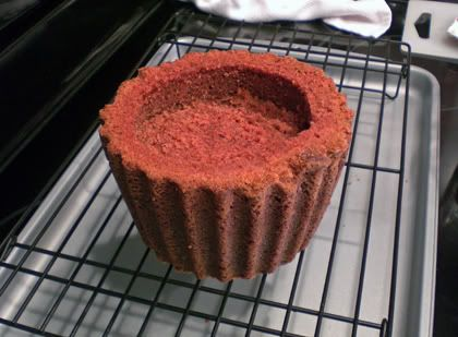 Add A Filling Into The Giant Cupcake Like This Giant Cupcake Cakes Giant Cupcake Recipes Giant Cupcakes