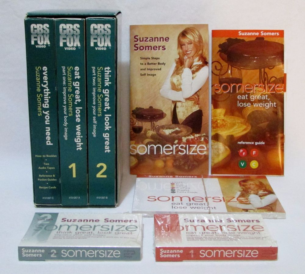 Somersize Suzanne Somers Vhs T Weight Loss Program Recipe Cards Bonus Sealed