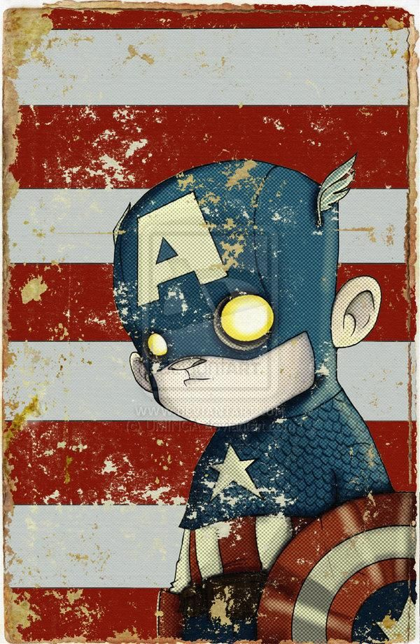 I have this Captain America hanging in my man cave