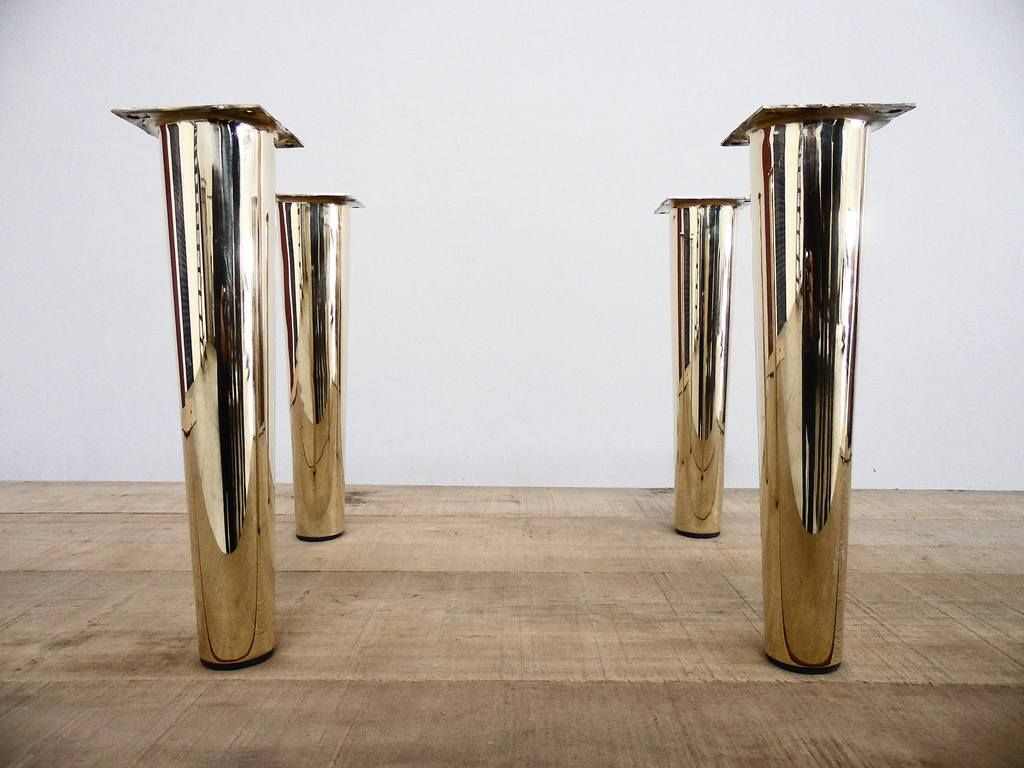 16 Cone Table Legs Height 12 17 Set 4 Best Furniture Feet Brass Material Made To Order Table Legs Brass Table Legs Metal Table Legs Coffee Table Legs