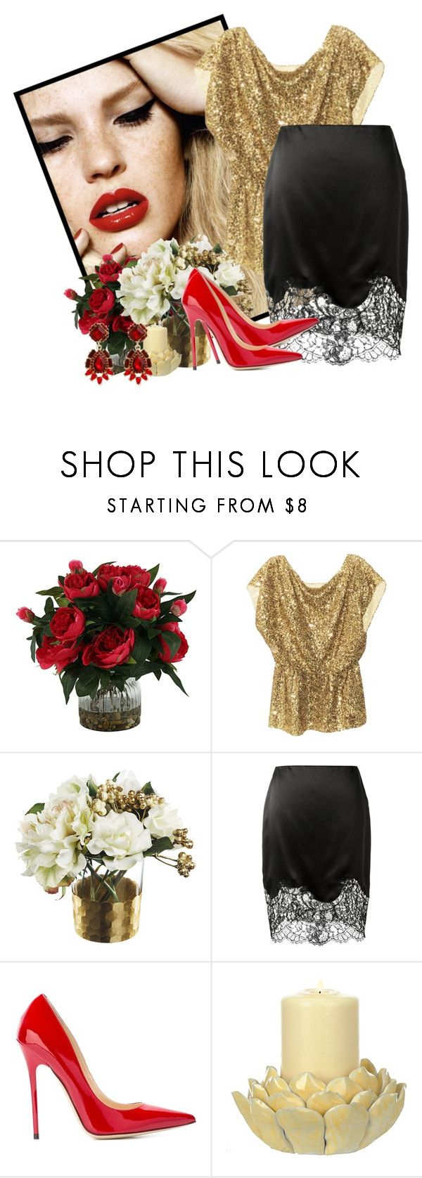 """""""I'm going on up in flames"""" by martinka ❤ liked on Polyvore featuring Alice + Olivia, Givenchy, Jimmy Choo and Erica Lyons"""