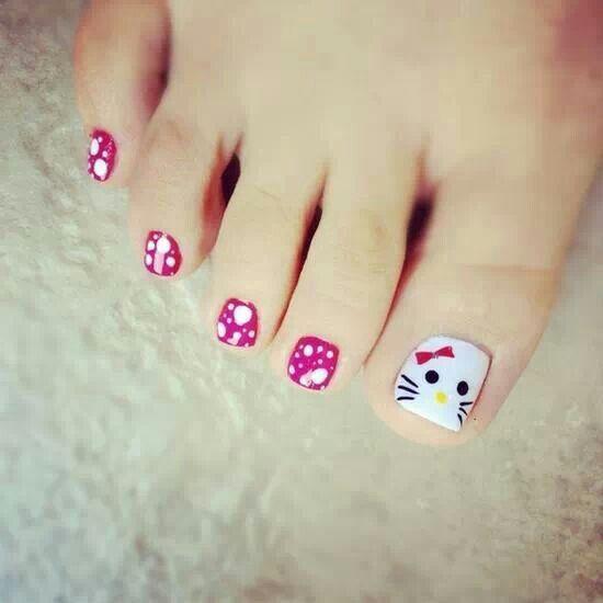 decoracion de unas de los pies para ninas