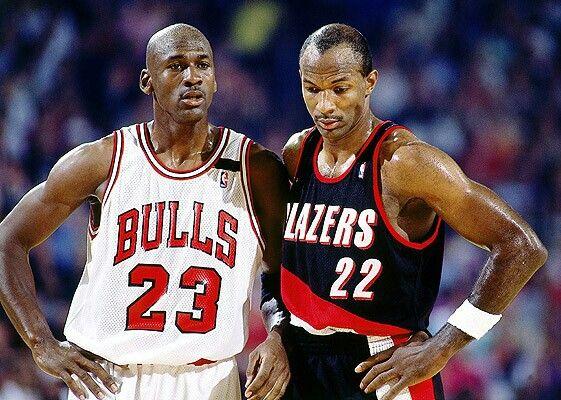 31b039acdfa Michael Jordan and Clyde Drexler - Portland Trailblazers   Michael ...