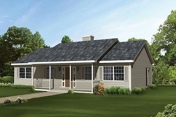 Ranch Style House Plan 3 Beds 2 Baths 1364 Sq Ft Plan 57 449 Country House Plans Ranch Style House Plans House Plans