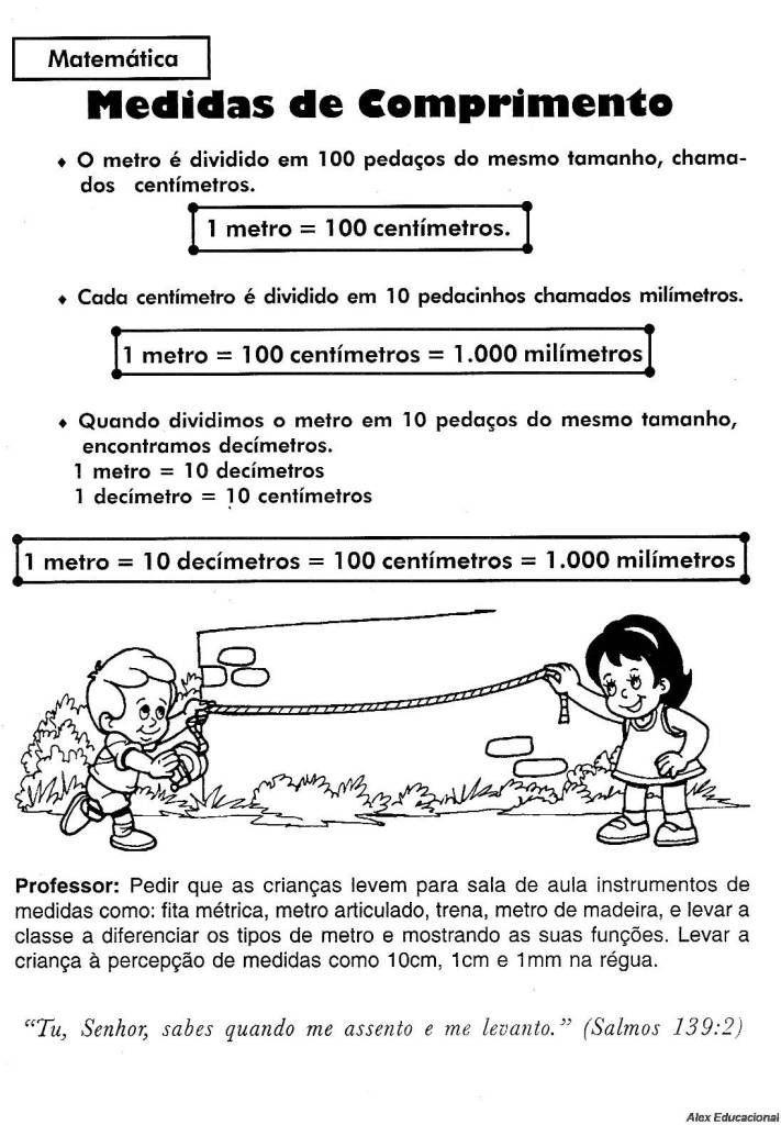 Exercicios de matematica 2o ano para imprimir metro for Temperatura frigo da 1 a 7