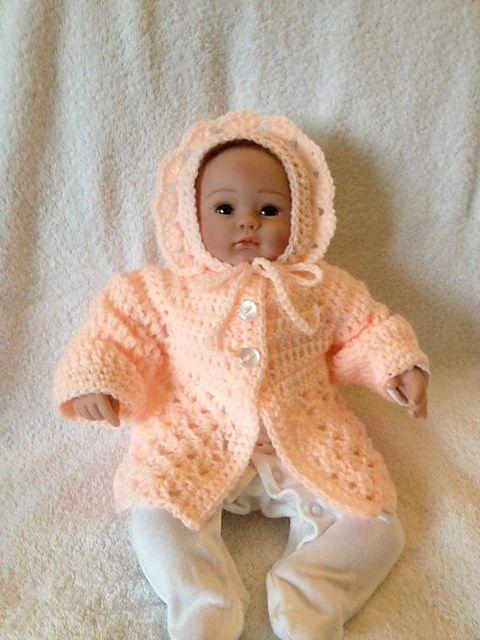 6cbd8fb82718 Craft Passions  beautiful baby cardigan   bonnet..  free  crochet ...