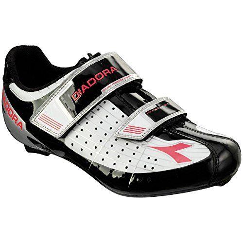 Diadora Phantom Cycling Shoes Womens Whiteblackfuxia Red 380