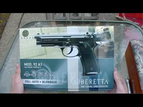 Umarex Beretta 92A1 BB Pistol, Full-Auto review and shooting