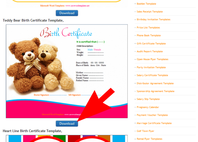 How To Make A Teddy Bear Birth Certificate Birth Certificate Template Certificate Templates Gift Certificate Template
