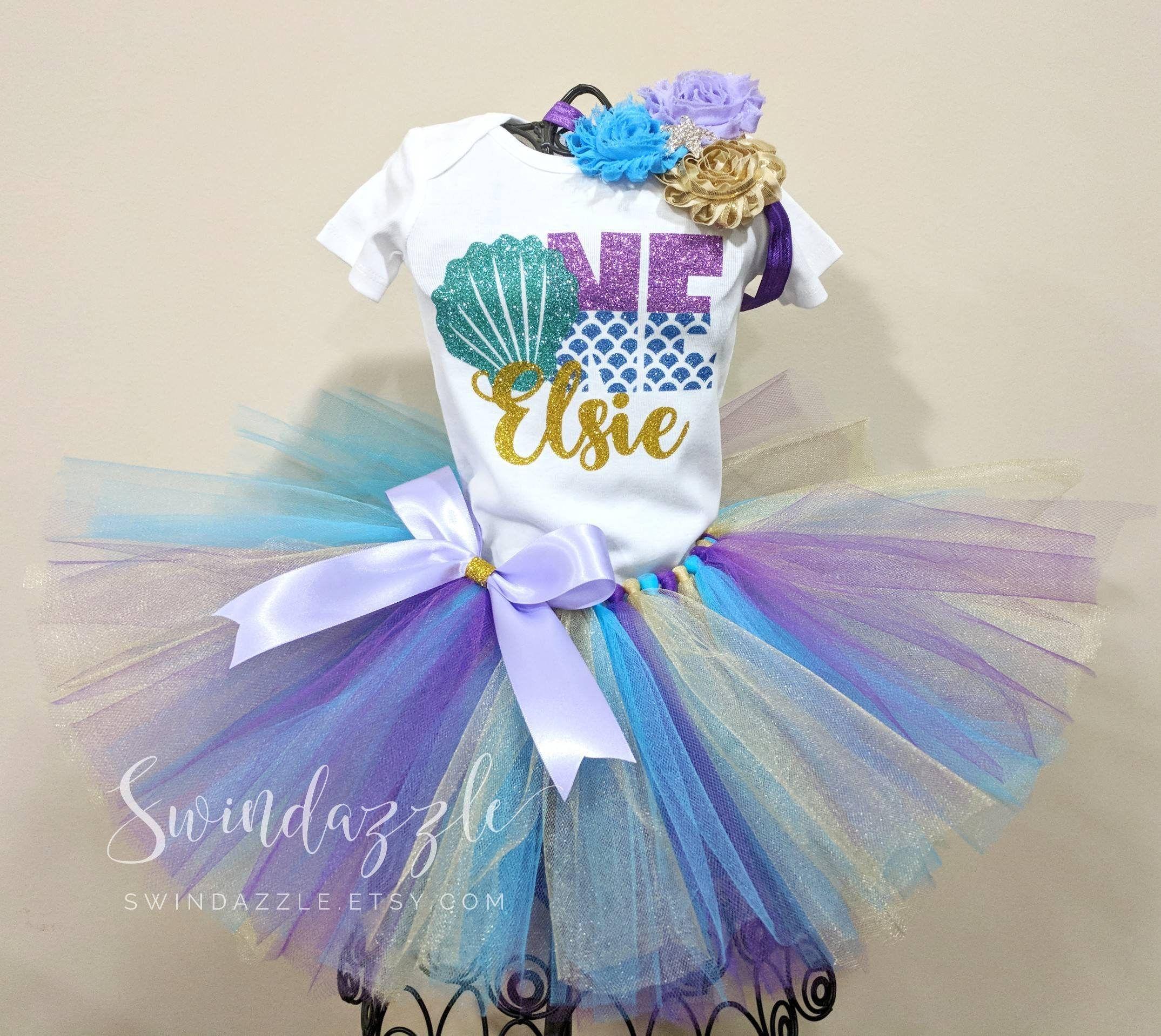 37e1ab7b9be15 Mermaid first birthday tutu outfit - mermaid theme birthday - mermaid  birthday shirt - purple and blue mermaid - first birthday girl -mermom by  Swindazzle ...
