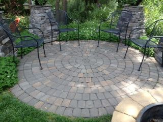 round patio. Round Patio With A Small Water Feature Behind It. I