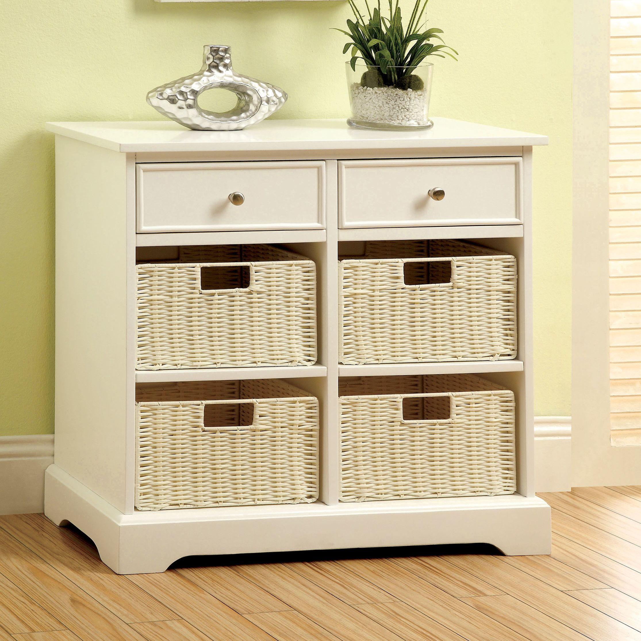 Practical Double Row With Baskets Drawer Storage Cabinet