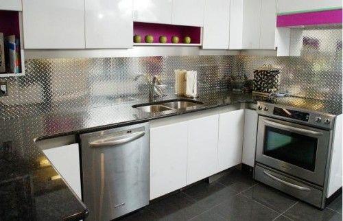 Best Aluminium Splashback Good Alternative To Tiles No 400 x 300