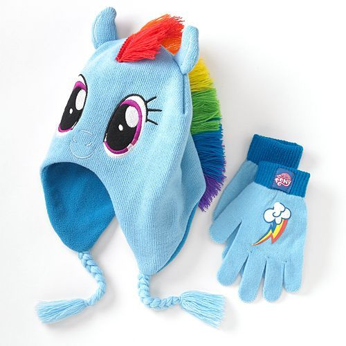 My Little Pony Rainbow Dash Hat Amp Gloves Set Girls