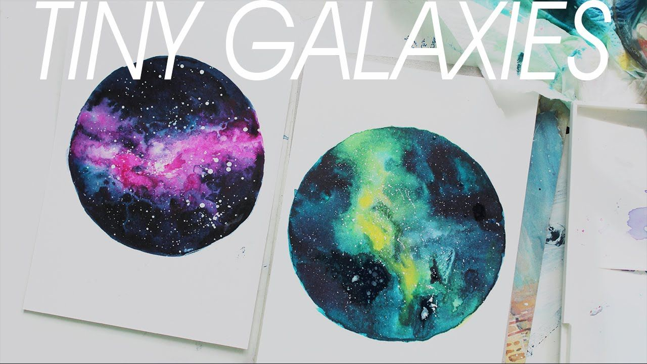 Watercolor Galaxy Sabeldesigns Painting Universe Watercolor