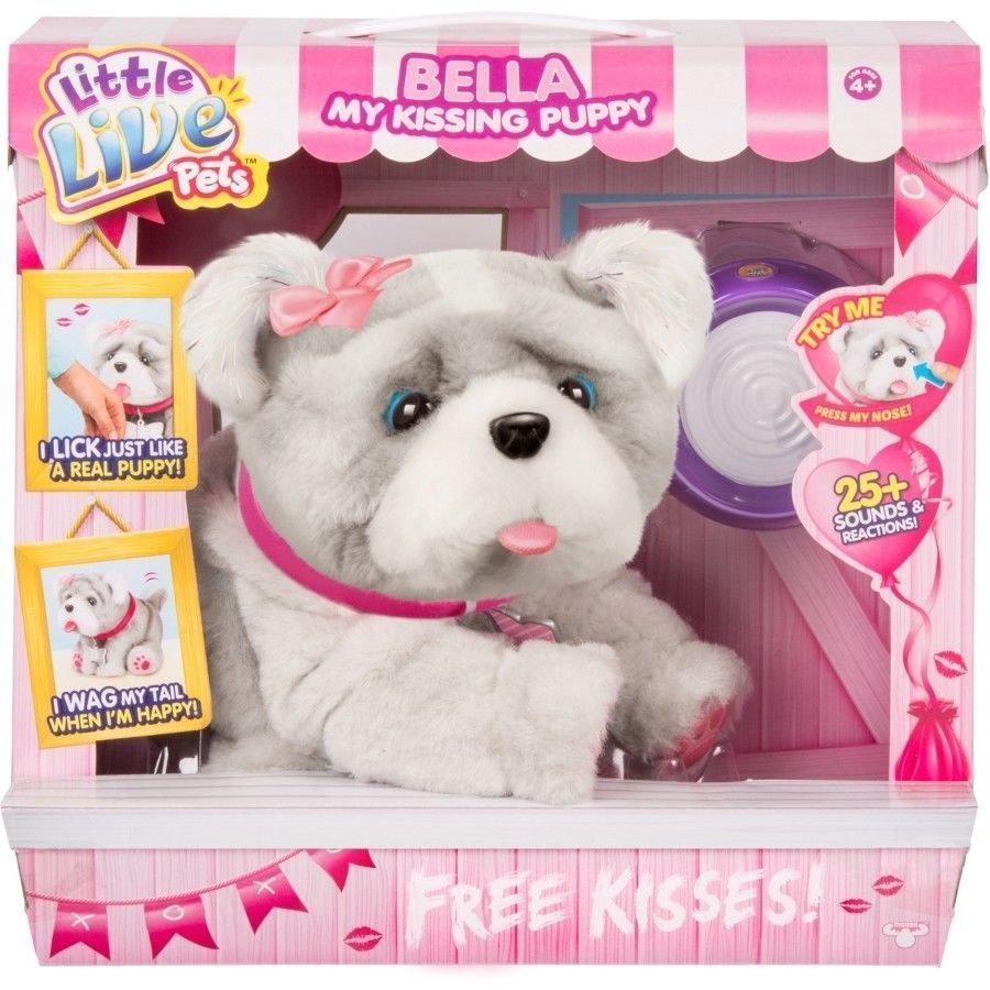 Little Live Pets Bella My Kissing Puppy Interactive Cute Plush Toy