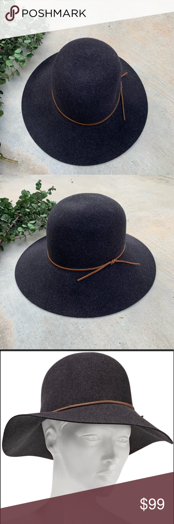 """69cac2a91a8 Rag   Bone Dunaway Hat In Excellent Like New Condition Circumference 7 1 8""""  Wide brim"""