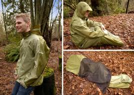 Jacket that turns into a tent with built in sleeping bag!