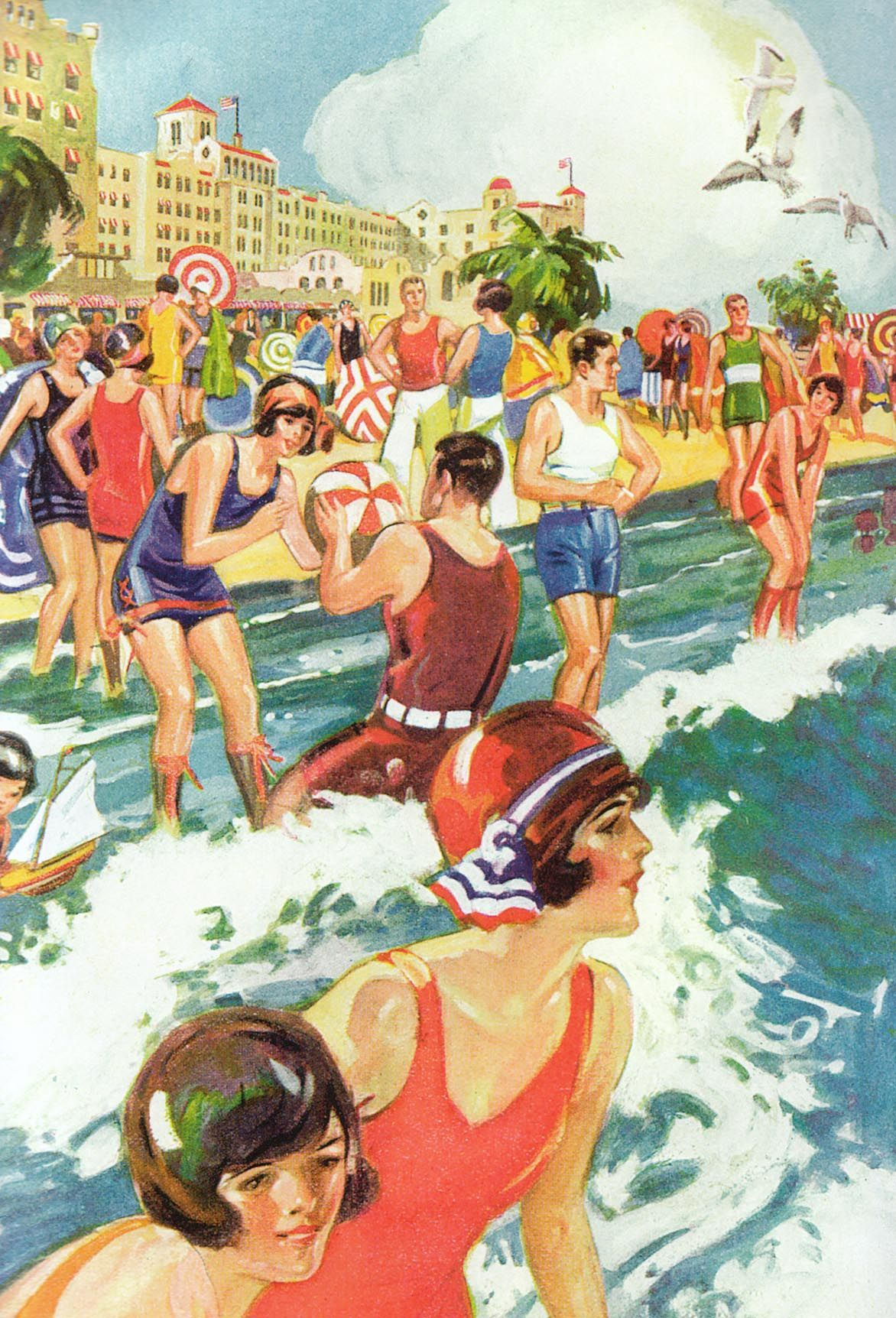 POSTER FORT LAUDERDALE FLORIDA YOUTH BEACH FUN SUN TRAVEL VINTAGE REPRO FREE S//H