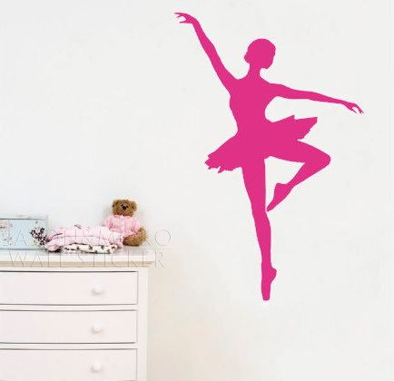 Ballerina Wall Decal Girl Wall Decal Db210 Designedbeginnings