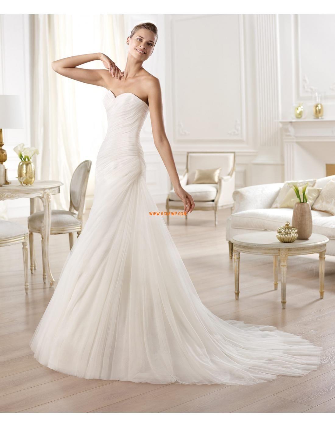 Herz-Ausschnitt Tülle Reißverschluss Brautkleider 2014   Chiffon ...