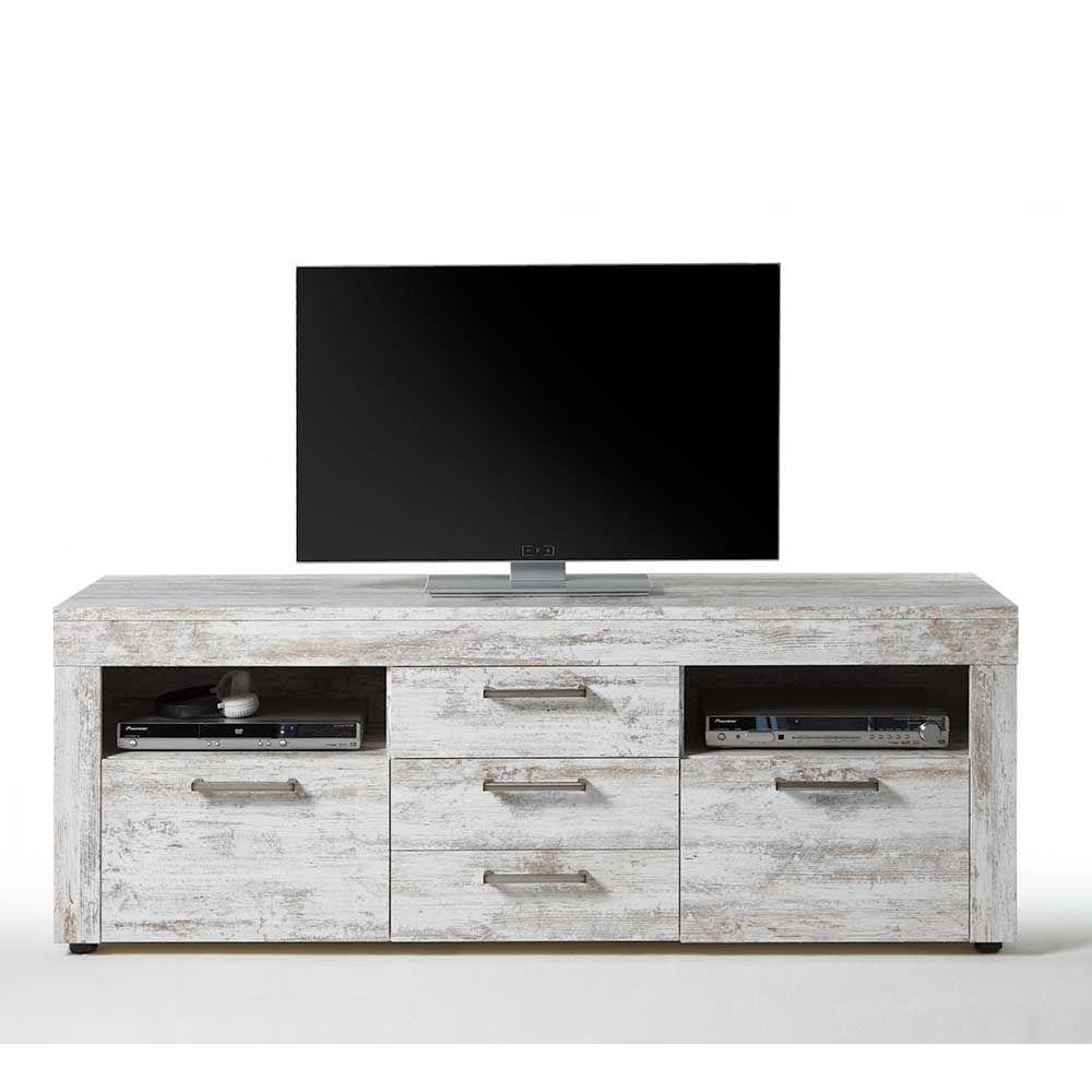 TV Board im Used Look Weiß Jetzt bestellen unter: https://moebel ...