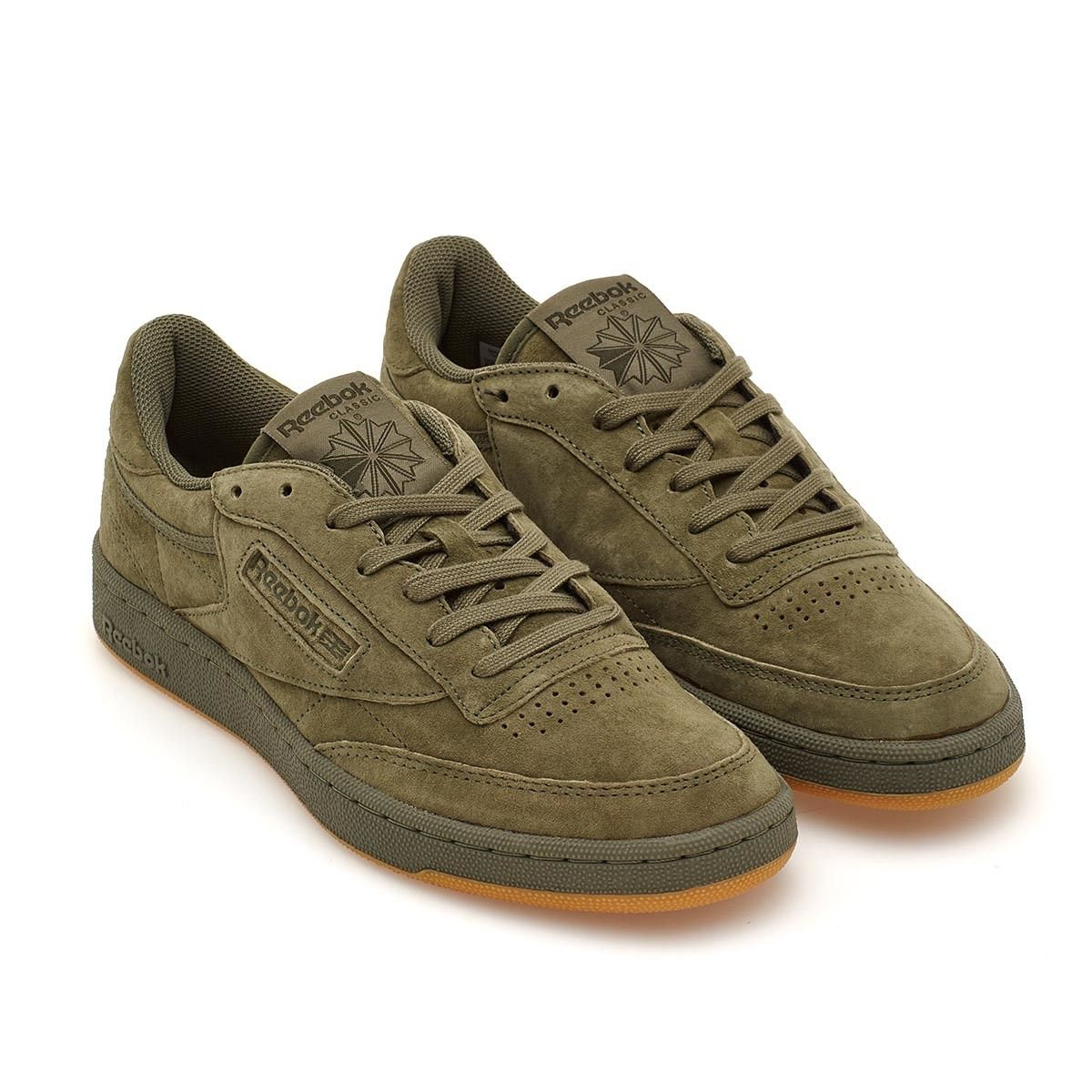 4b7a540b55c8d Club C 85 TG from the S S2017 Reebok collection in hunter green This  vintage look iconic sneaker is from Reebok collection. The Club C 85 TG  sneakers