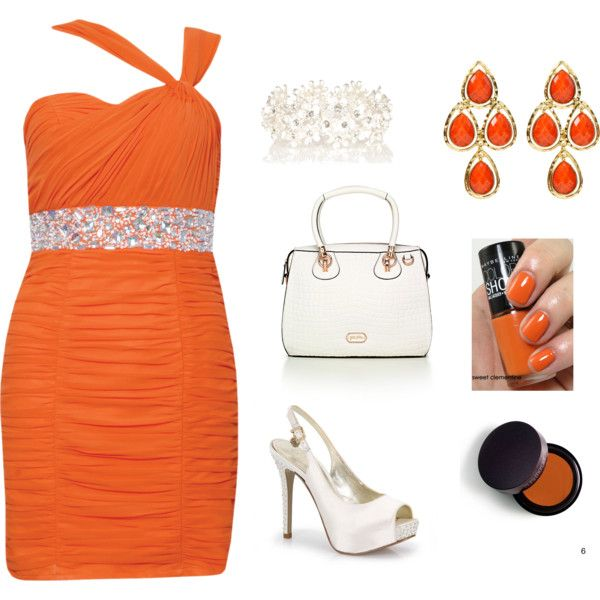 orange, created by snow-white191 on Polyvore