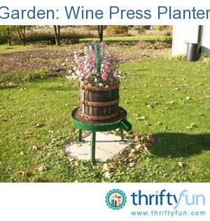 Wine press planter