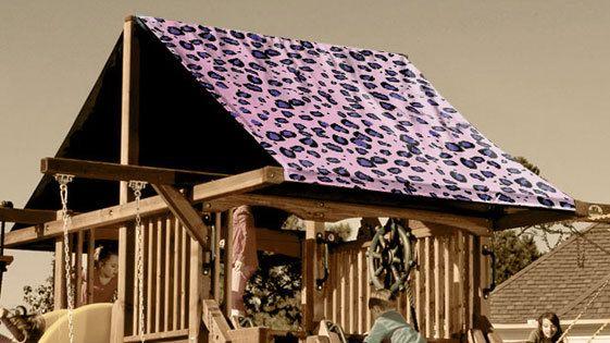 Pink Cheetah Playset Roof Tarp Custom Canopy Outdoor Fun Canopy